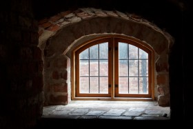 Free photo of Window, Sky, Brown, Symmetry and Fixture