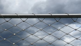 Free photo of Sky, Fence, Cloud, Tints And Shades and Mesh