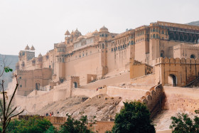 Free photo of Distant view of amber palace Jaipur