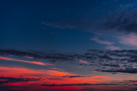 Free photo of Orange and Blue cloudy sky during sunset