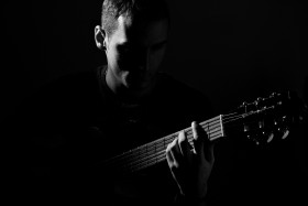 Free photo of Guitar, Musician, Musical Instrument, Flash Photography and String instrument