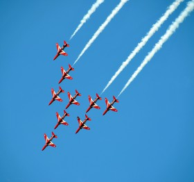 Free photo of Aircraft, Vehicle, Sky, Event and Airplane