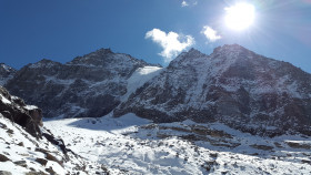 Free photo of Mountain, Cloud, Sky, Glacial Landform and Snow
