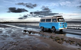 Free photo of Cloud, Sky, Water, Car and Volkswagen type 2