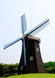 Free photo of Sky, Mill, Windmill, Grass and Plant